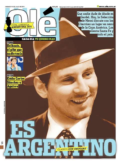 ¡Lionel Messi, el `Carlos Gardel´ del fútbol!