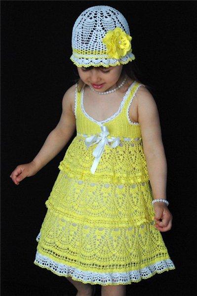 vestido para nina hecho por tasha podakova