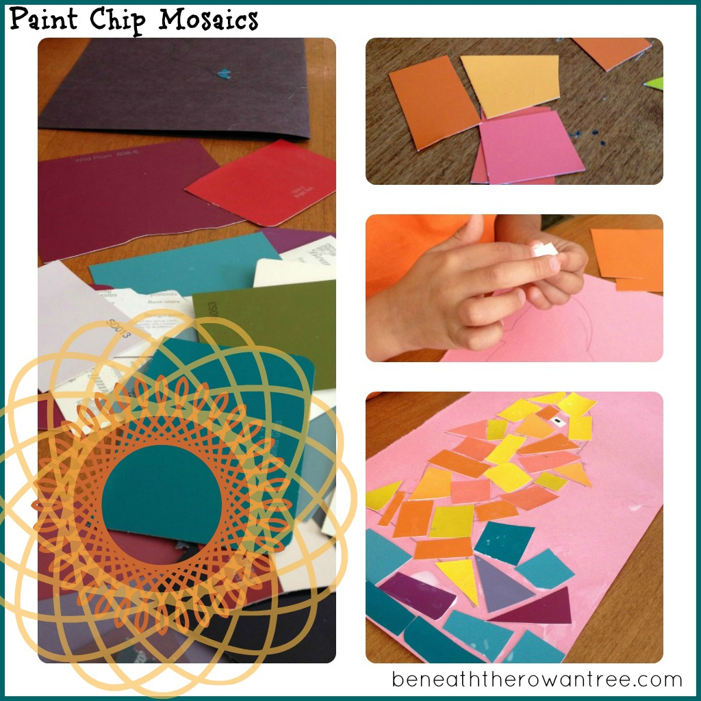 Kid Crafts Using Paint Chips