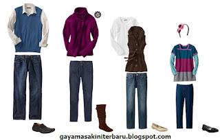 Model baju keluarga modern terbaru