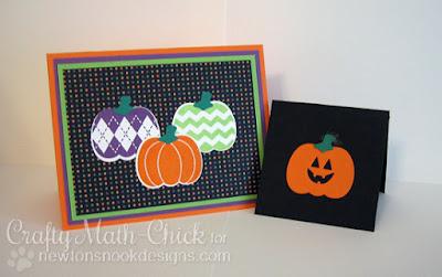 Pumpkin Cards created by Crafty Math Chick | Pick a Pumpkin by Newton's Nook Designs