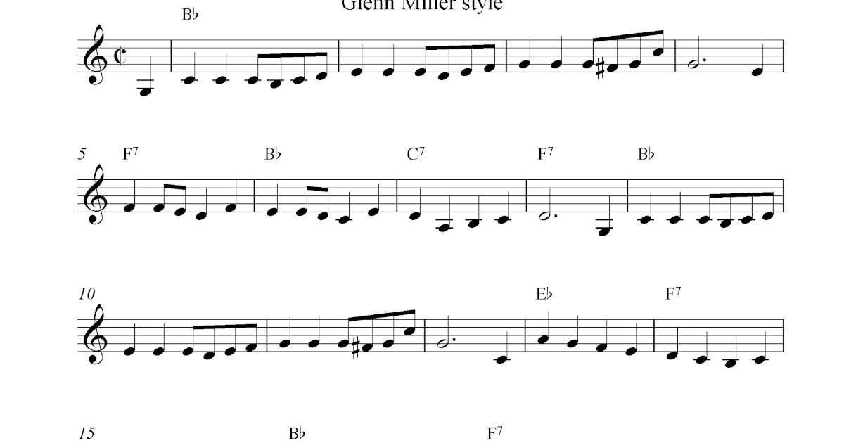 piano sheet music template