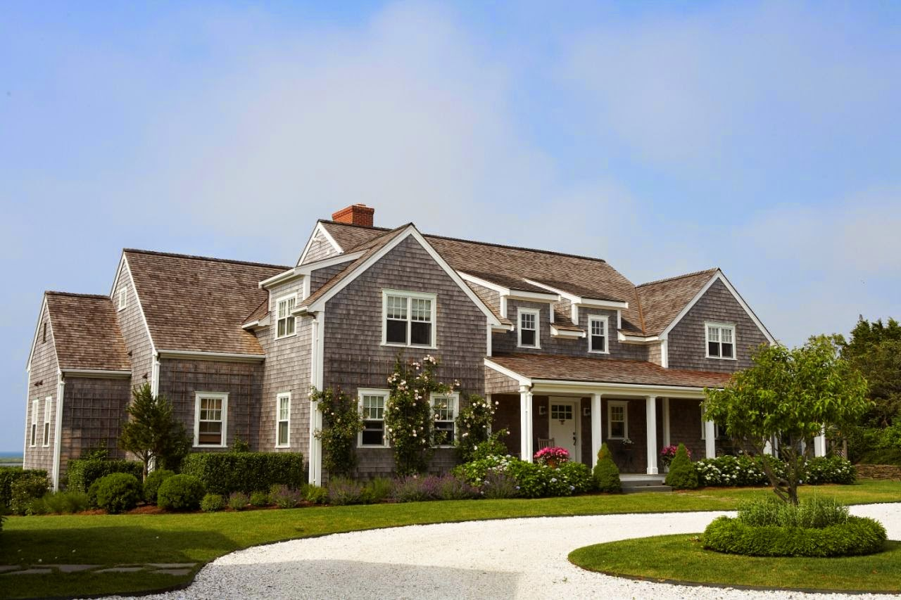 The fat hydrangea for Shingle style home plans