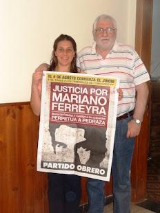 JORGE Y VIRGINIA MORENO TAMBIÉN PIDEN JUSTICIA POR MARIANO