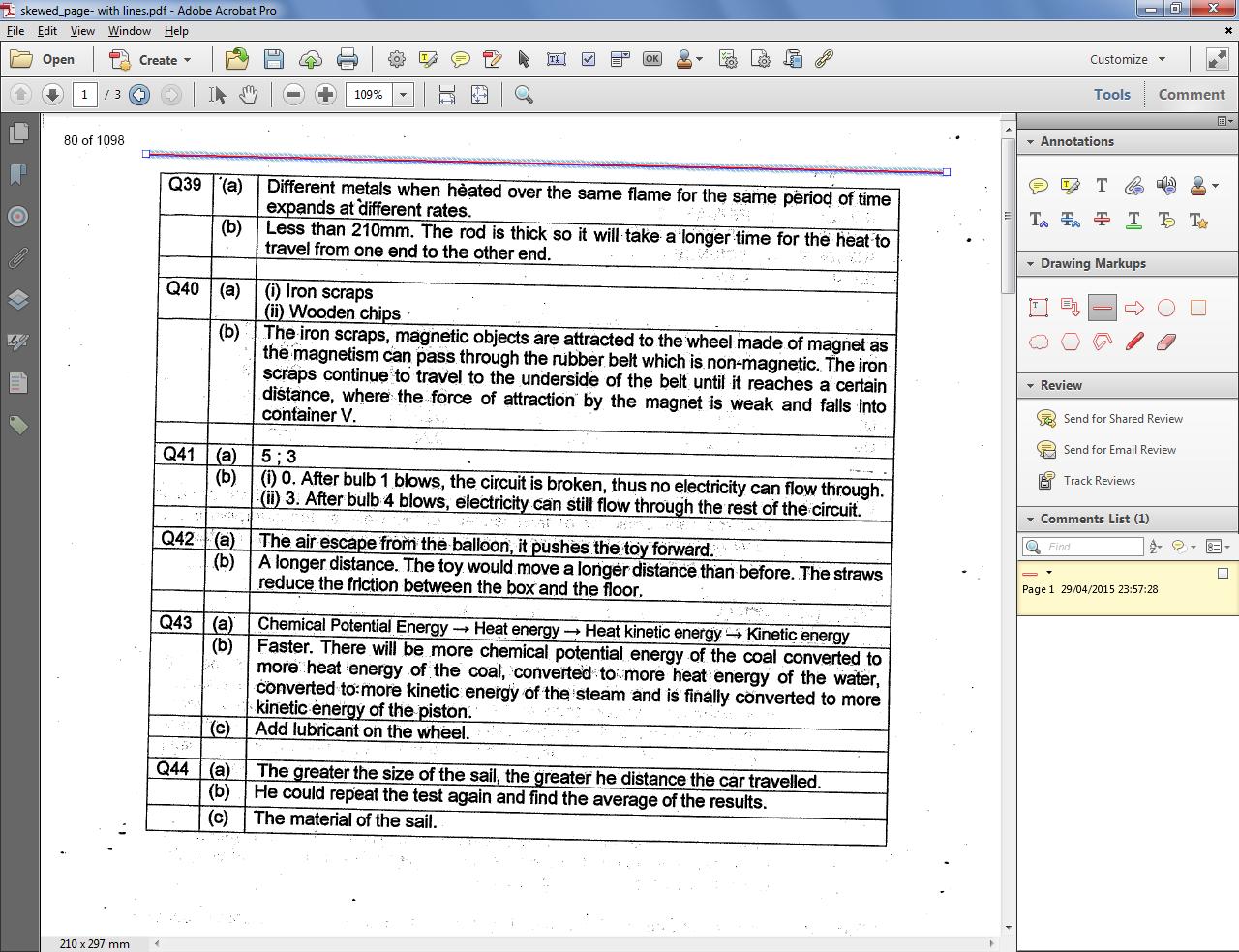 how to deskew a pdf file