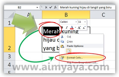 Gambar: Mengatur format sel di Microsoft Excel