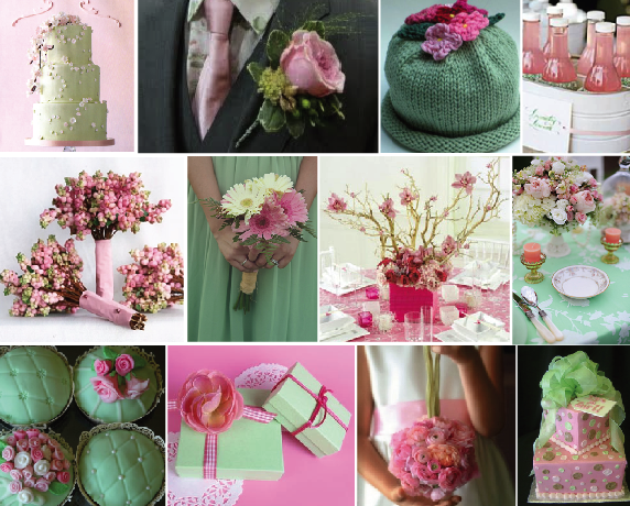 Ideas by andrea spring event color combinations part 1 - Combination of green and pink ...