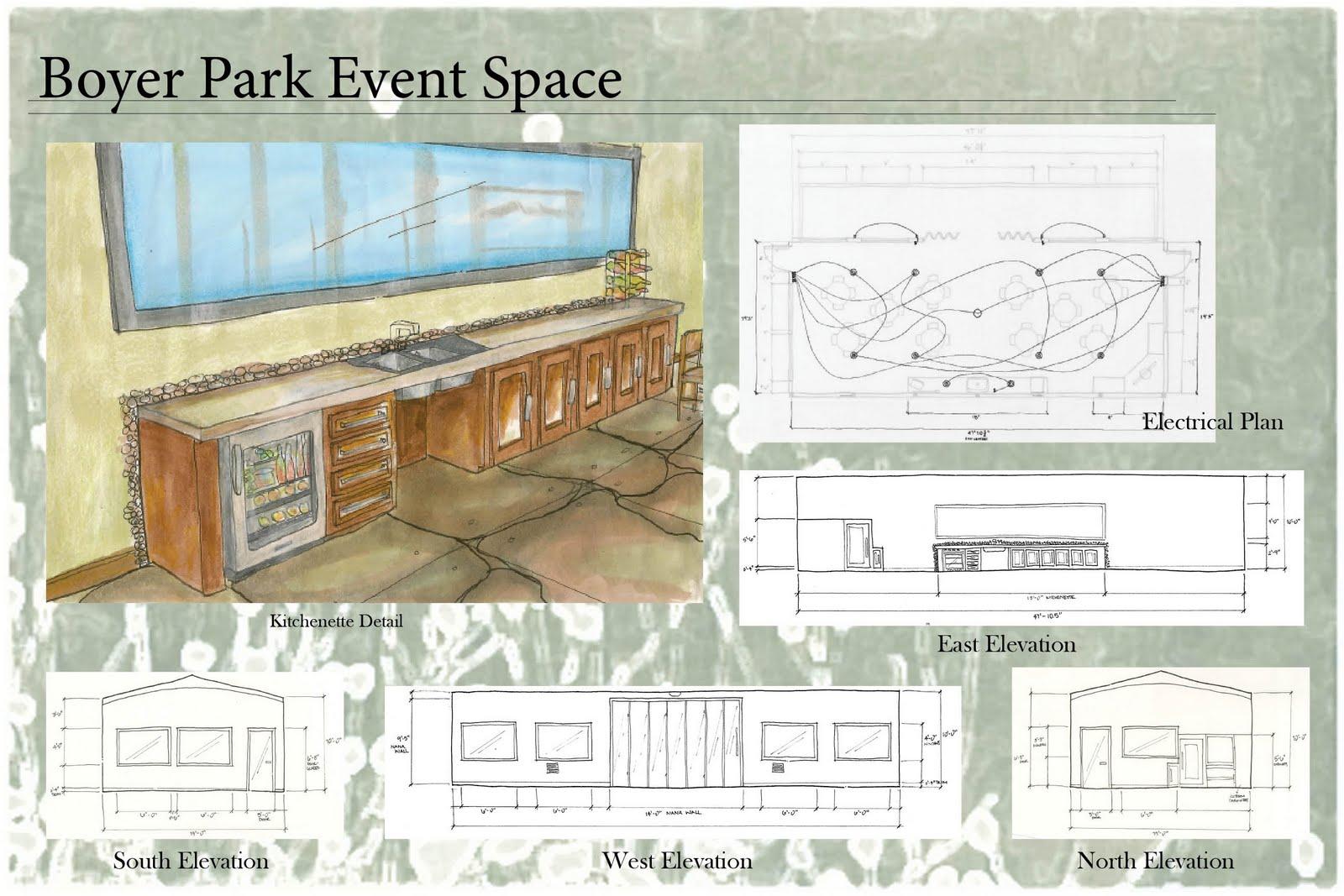 Student Interior Design Portfolio Boyer Park Event Space