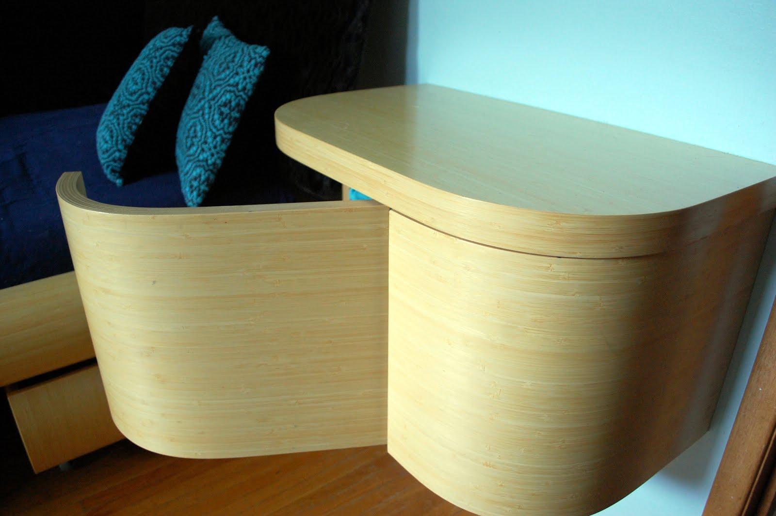 wall mounted bedside table vurv design. Black Bedroom Furniture Sets. Home Design Ideas