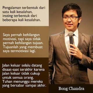 Kumpulan Kata Motivator Bong Chandra Pilihan