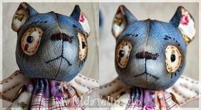 глазки текстильного мишки