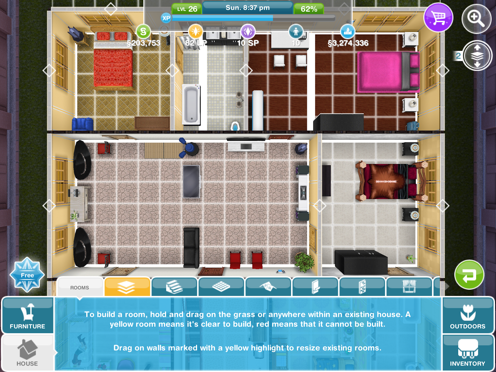 The Sims Freeplay Bedrooms