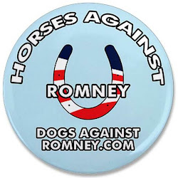 Horses Against Romney Button