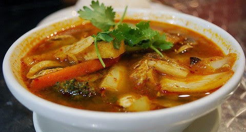 spicy and tangy Tom Yum soup
