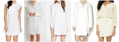 Summerland CA Linen Sleeveless Tie Waist Shirt Dress $19.98 (regular $39.99) I like it in dark gray even more!  Forever 21 Belted Crepe Shirt Dress $27.90  Glamorous Dolman Sleeve Shirtdress $32.40 (regular $54.00)  Urban Club White Shirtdress $38.00 (regular $88.00)  d.RA Prato Dress $54.40 (regular $136.00)