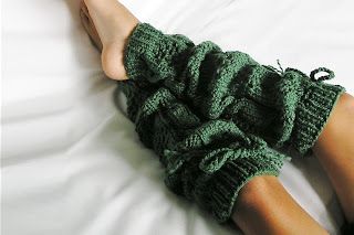 Knitted Leg Warmers by knitwit4ever