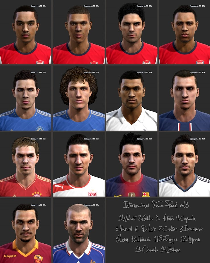 PES 2013 Facepack by shamrik gunners
