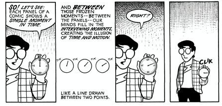 scott mccloud understanding comics chapter 1 This is a summary of scott mccloud's understanding comics the definition is dense (in the book it is developed over several pages, with mccloud's cartoon avatar taking questions from an audience), but to quote another part of the chapter 1 there is no mention of black lines and flat colored ink.
