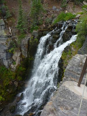 A waterfall in Lassen Volcanic National Park: Kings Creek Falls