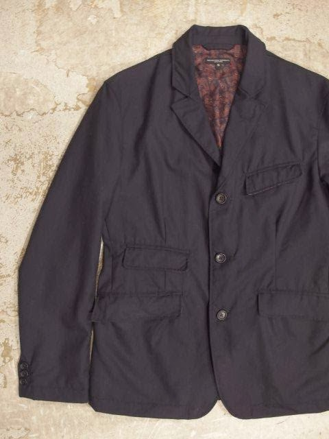 engineered garments andover jacket in navy tropical wool spring/summer 2014