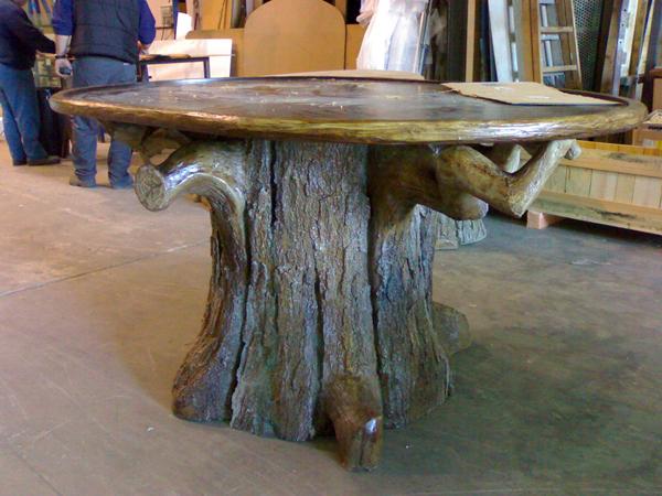 Jose manuel dana escultor elementos para interiorismo for Mesas de troncos de arboles