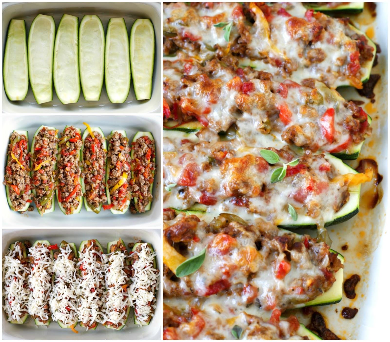 Sausage, Pepper, and Onion Stuffed Zucchini Boats | The ...