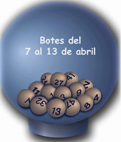 Botes de la semana del 7 al 13 de abril de 2014 en Loterías y apuestas