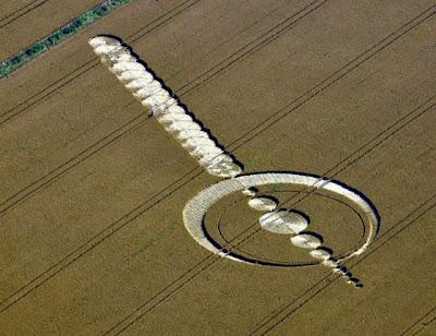 circulo en campos de cultivo