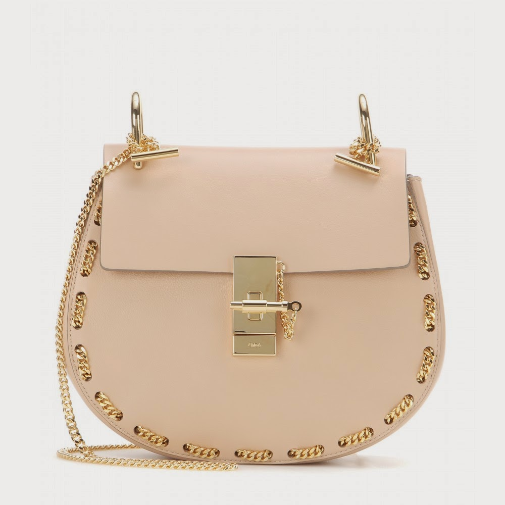 Chloé Drew Embellished Leather Shoulder Bag