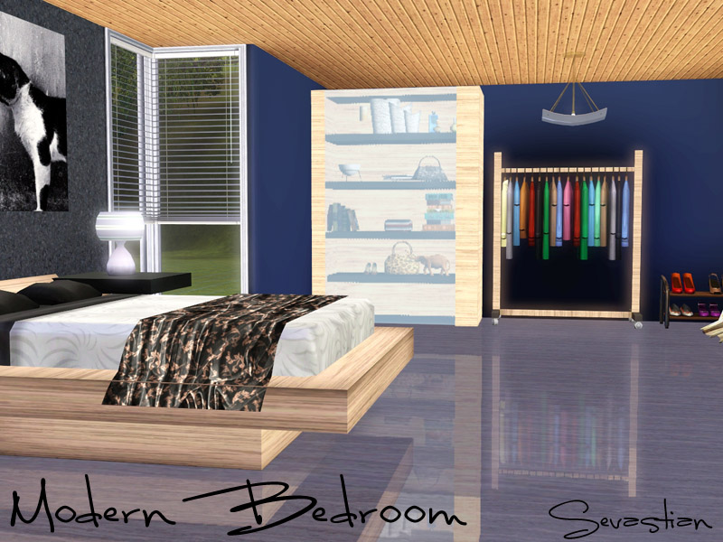 Modern desing sims 3 modern bedroom for Bedroom ideas to boost intimacy