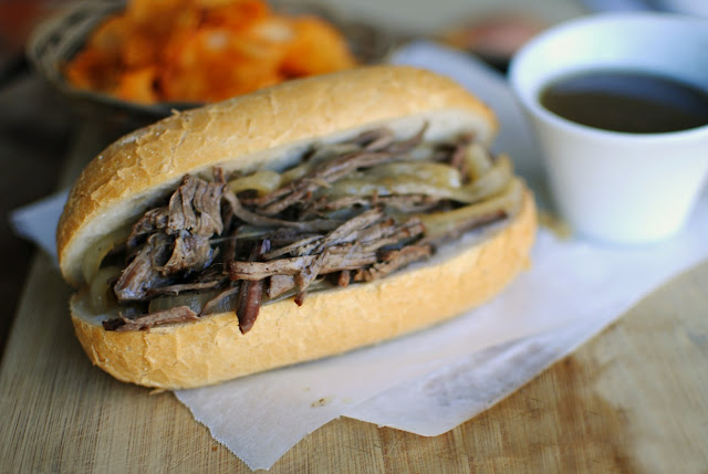 slow cooker french dip sandwiches l simplyscratch.com