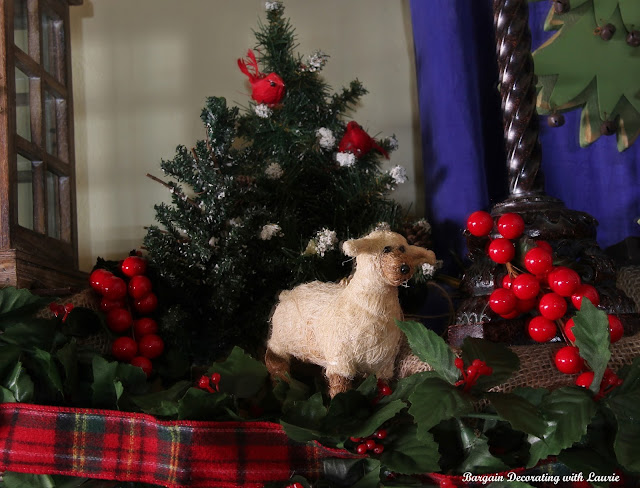 Christmas Mantel-Bargain Decorating with Laurie