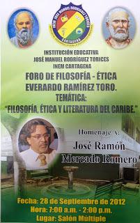 Un homenaje a José Ramón Mercado, ex rector del INEM y poeta.