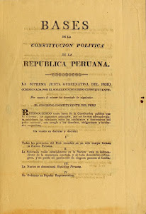 Bases de la Constitución Política de la República Peruana 1822