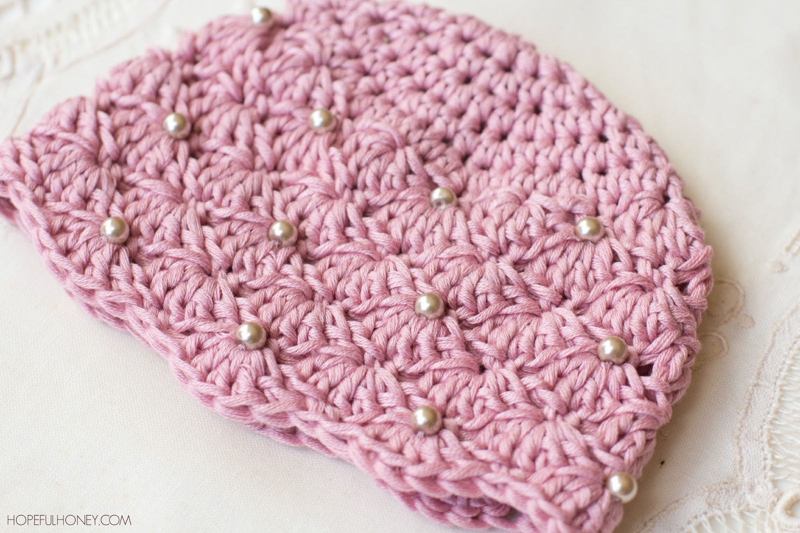 Crochet Baby Beanie Pattern Easy : Hopeful Honey Craft, Crochet, Create: Vintage Pearl Baby ...