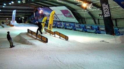 De slopestyle masters was de eerste snowboard en free ski wedstrijd van het 2014 seizoen.Gehouden in het nieuwe park in Snowworld Zoetermeer.