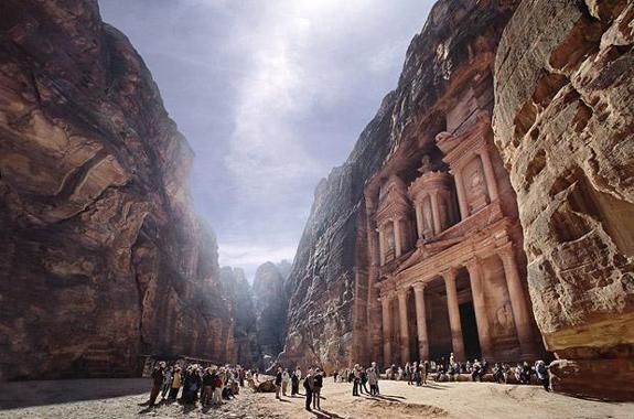 "Many means ""a rose red city petra jordan"