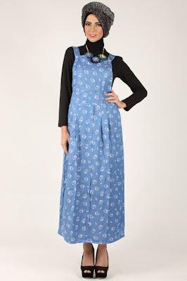 Baju Kodok Wanita Berhijab Warna Biru