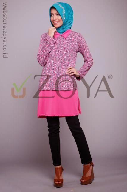 Kerudung Zoya | Model Kerudung Terbaru 2014: Baju Muslim Tunik Zoya