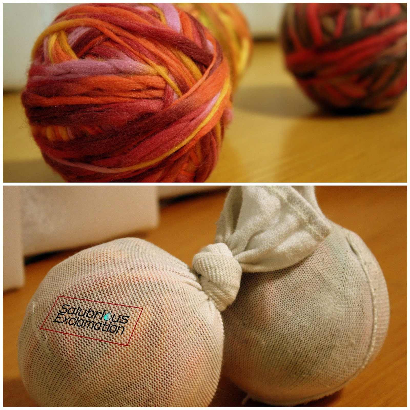 How to Make Wool Dryer Balls for Laundry