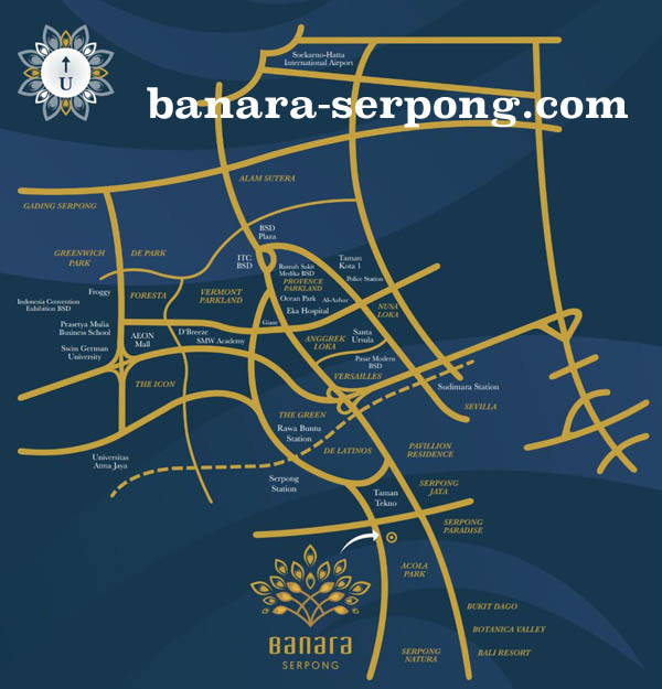 Banara Serpong Map Location