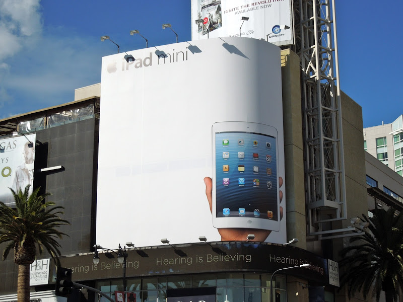 Giant iPad mini billboard Hollywood Highland