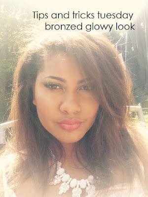 summer makeup tips and tricks tuesday | Bronzed glowy look