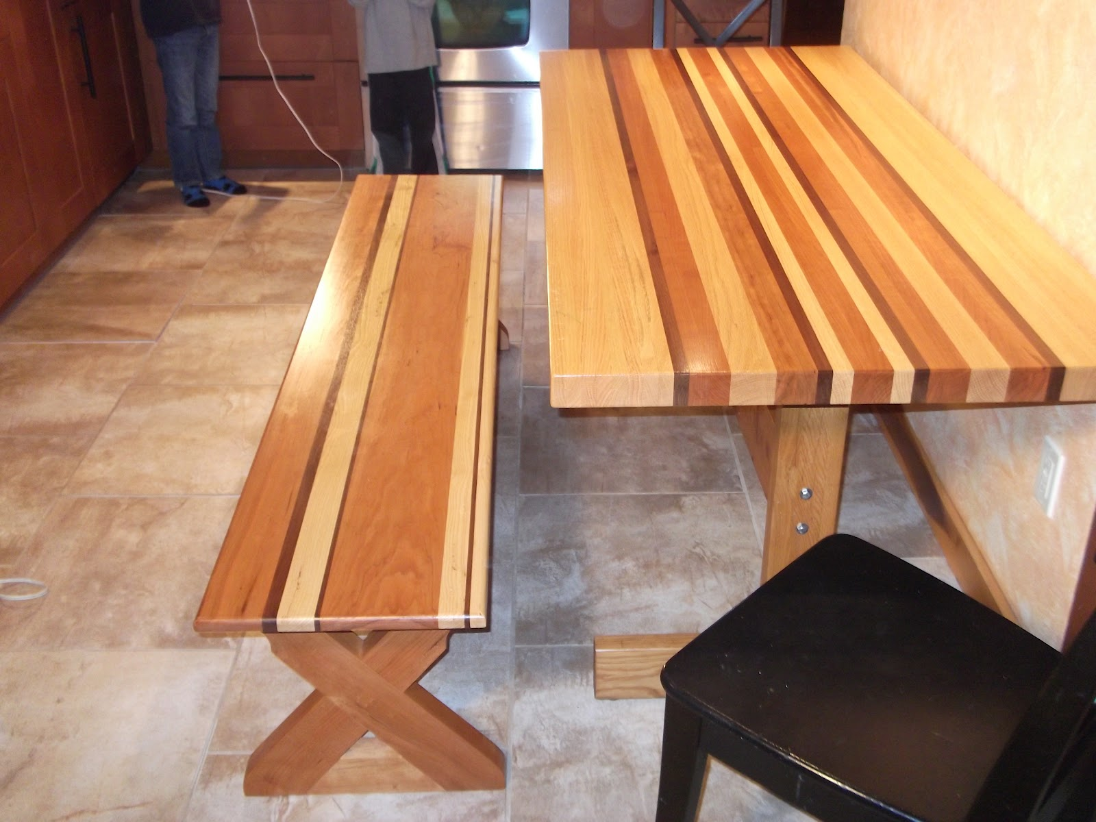 Littlewing woodwork kitchen table and bench - Exciting look kitchen table bench plans ...