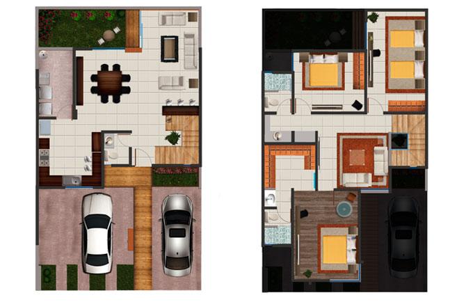 Puerta De Alcala Baños:Planos de Casas y Plantas Arquitectónicas de Casas y Departamentos