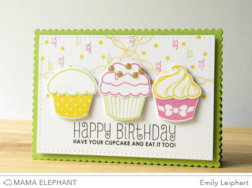 Cup Cake Enamel Picture Frame