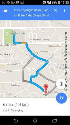 Google Maps Bober Cafe Bandung