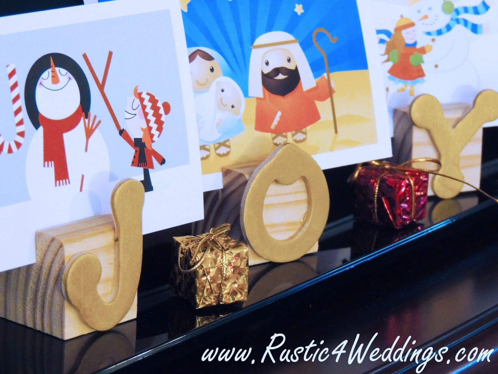 Rustic 4 weddings diy wooden christmas card holder idea diy christmas card holder idea solutioingenieria Choice Image