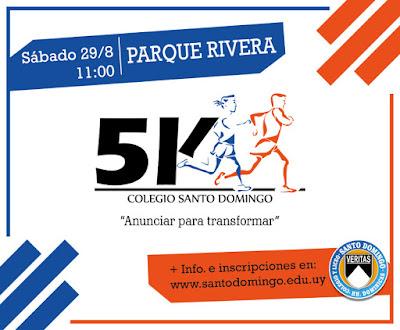 5k Colegio Santo Domingo (parque Rivera, Montevideo, 29/ago/2015)