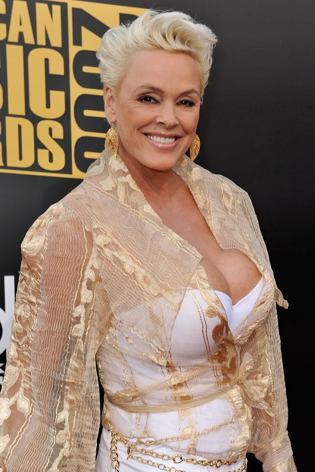 Brigitte Nielsen Hot Cleavage at 2008 American Music